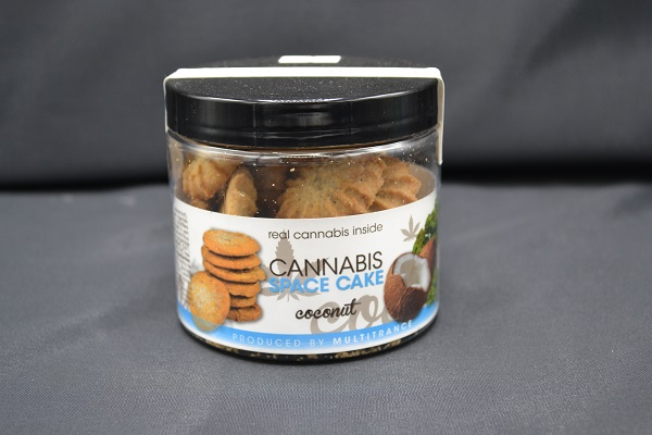 kokosnoot Cannabis space cake in een potje